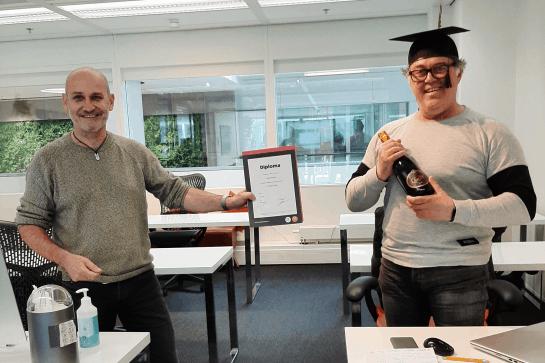 Alumnus Roland Koopmans over z'n opleiding UX Design Master: 'Ik kon bedrijven direct helpen aan een betere website'